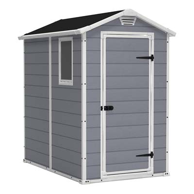 4. Keter Manor Large 4 x 6 ft. Outdoor Storage Shed