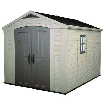 1. Keter Factor Large 8 x 11 ft. Outdoor Storage Shed