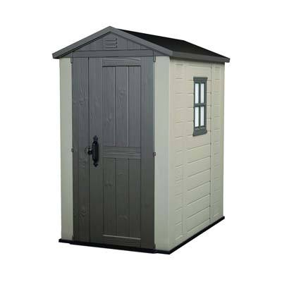 6. Keter Factor Large 4 x 6 ft. Outdoor Storage Shed
