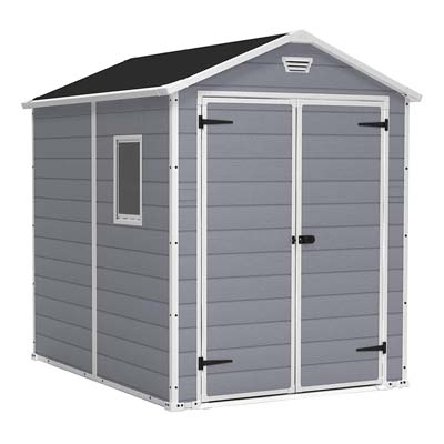 3. Keter Manor Large 6 x 8 ft. Backyard Storage Shed