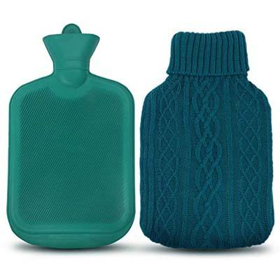6. Ohuhu AZMED Hot Water Bottle (2 Liters, Knit Cover)