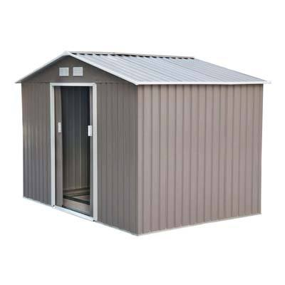 7. Outsunny 9' x 6' Backyard Utility Storage Shed