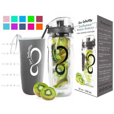 10. Live Infinitely 32 oz. Infuser Water Bottles