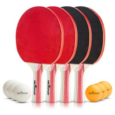 1. Abco Tech Pack of 4 Ping Pong Set