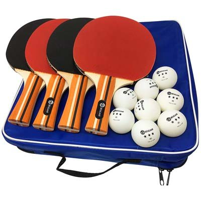 5. JP WinLook 4 Pack Ping Pong Paddle