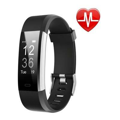 1. LETSCOM Fitness Tracker HR (Black)