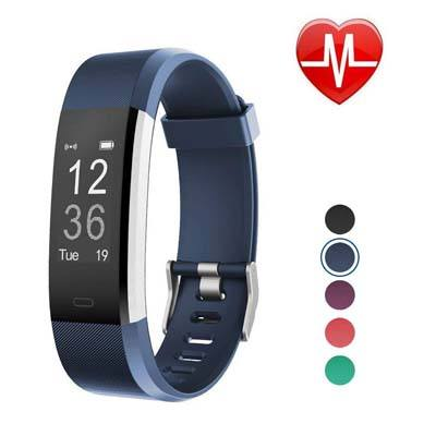 4. LETSCOM Fitness Tracker HR (Blue 1)