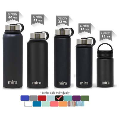 6. MIRA Vacuum Insulated Wide Mouth Water Bottle