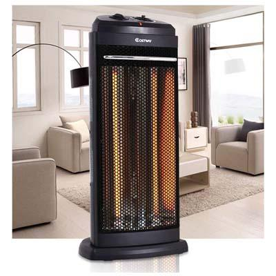 10. COSTWAY Electric Quartz Tower Heater