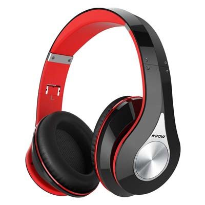 1. Mpow 059 Bluetooth Headphones Over Ear (1 Black-Red)