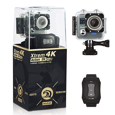 7. NeuTab Xtrem 4K Waterproof Action Camera