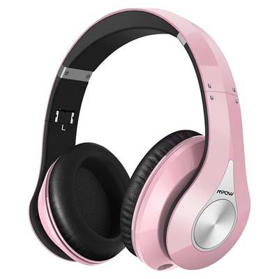 5. Mpow 059 Bluetooth Headphones Over Ear (Pink)