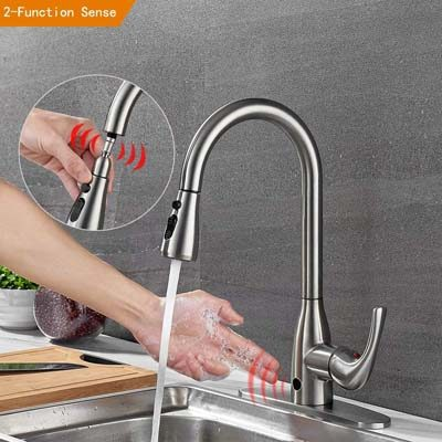 9. badiJum Touchless Kitchen Faucets with Pull Down Sprayer