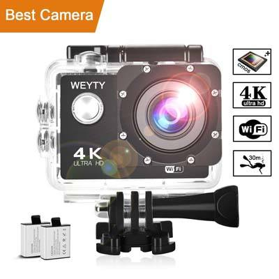 10. weyty X6S 4K Waterproof Action Camera