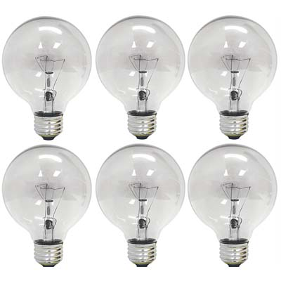 7. GE Lighting 12980 G25 Globe Lights