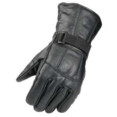 2. Raider Black Leather Motorcycle Riding Glove