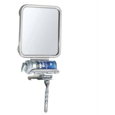 7. InterDesign Forma Suction Shower Shaving Mirror