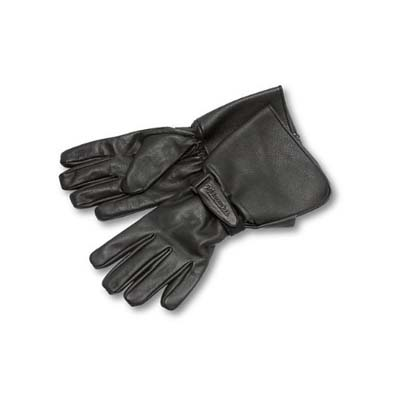 4. Milwaukee Motorcycle Clothing Men's Leather Gauntlet Riding Gloves