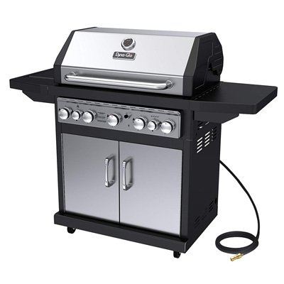 10. Dyna-Glo Black and Stainless Gas Grill