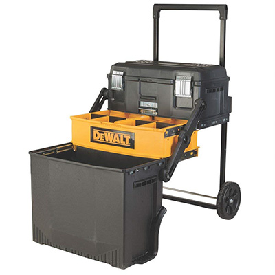 10. DeWalt DWST20880 Multi-Level Rolling Mobile Work Center