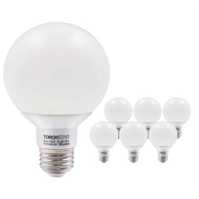 4. Torchstar G25 Globe LED Bulbs