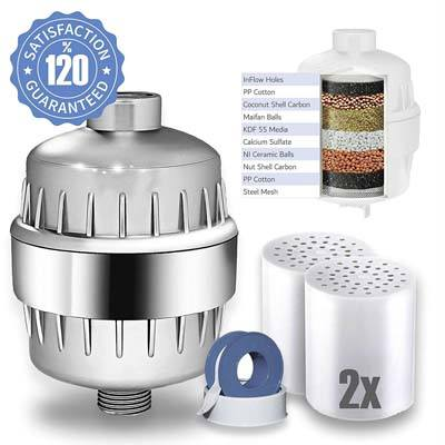 6. Captain Eco Shower Filter with Replacement Cartridges