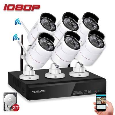 8. YESKAMO 1080p Wireless Security Camera System