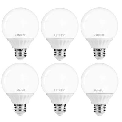 6. Ustellar 6-Pack 5W LED Bulbs