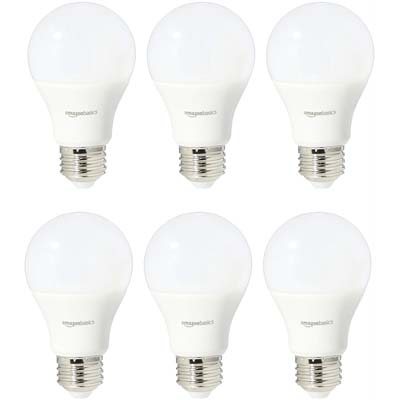 1. AmazonBasics 60-Watt Non-Dimmable Light Bulbs
