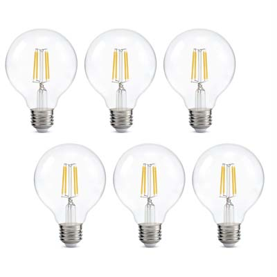 9. Kohree Dimmable LED G25 Light Bulbs