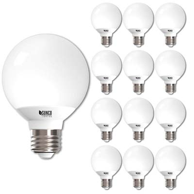 8. Sunco 12-Pack LED Globe Lights