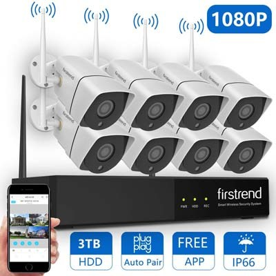6. Firstrend 1080P Wireless Security Camera System