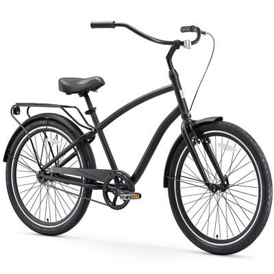 1. Sixthreezero Men's Hybrid Cruiser Bicycle