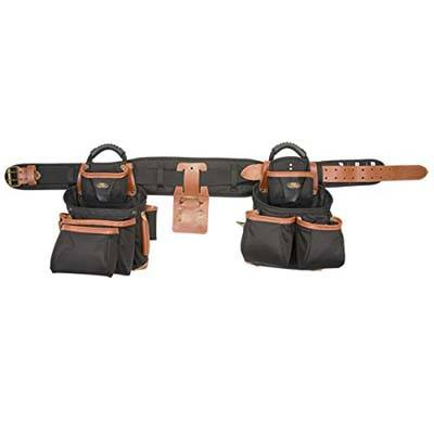 7. Custom Leathercraft 51452 4 Piece Pro Framer's Tool Belt