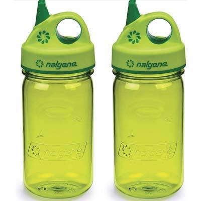 10. Nalgene Grip-n-Gulp Everyday Kids Water Bottle (3 Pack)