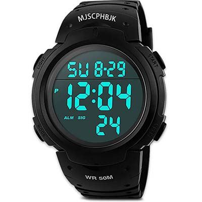 5. MJSCPHBJK Mens Digital Sports Watch