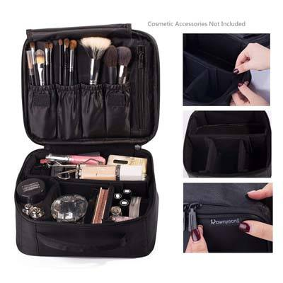 1. ROWNYEON Mini Makeup Train Case 9.8""