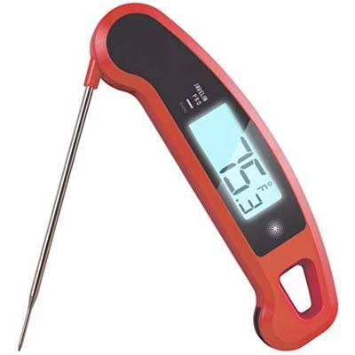 7. Lavatools PRO Duo Ambidextrous Digital Meat Thermometer (Chipotle)