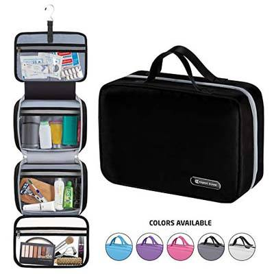 5. Expert Travel Hanging Travel Toiletry Bag