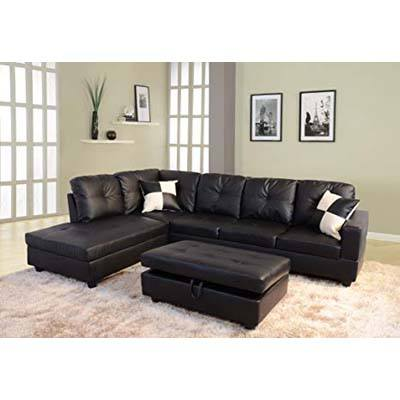 2. Lifestyle 3-Piece Faux Leather Sofa