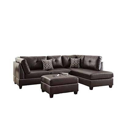 4. Poundex F6973 Bobkona Viola Faux leather couch