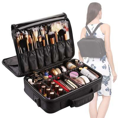 8. VASKER 3 Layers Makeup Bag Travel Cosmetic Case