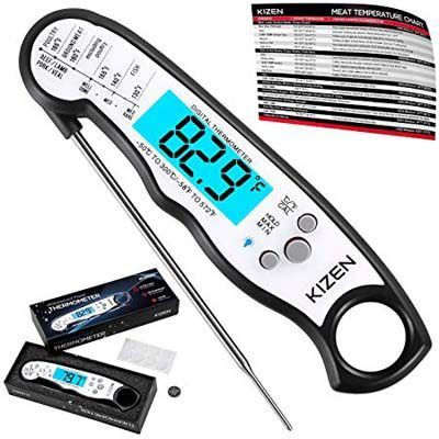 9. Kizen Instant Read Digital Meat Thermometer