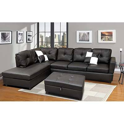 7. WINPEX 3 Piece Faux Leather Sectional Sofa