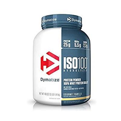 4. Dymatize ISO 100 Whey Protein Powder Isolate, 3lbs