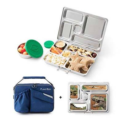 8. PlanetBox ROVER Stainless Steel Bento