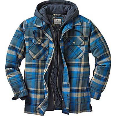 9. Legendary Whitetails Men's Hooded Flannel Shirt Jacket