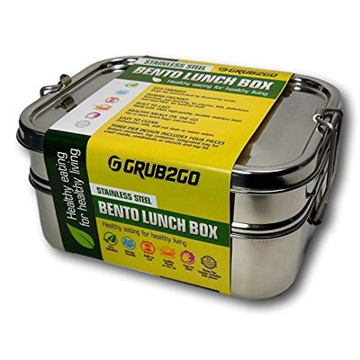 4. GRUB2GO Stainless Steel Lunch Container