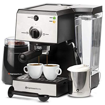 10. 7 Pc Espresso Machine & Cappuccino Maker Barista Bundle Set
