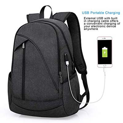 7. ibagbar Water Resistant Laptop Backpack